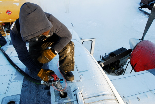 Fueling a Skyvan at -20F